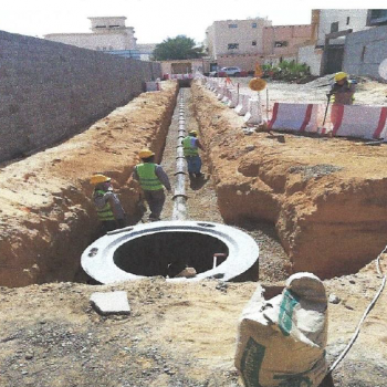 Construction of Sewage Network South Buraidah Second Phase